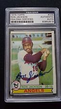 1979 Topps #339 Ron Jackson Auto Angels PSA DNA Slabbed Vintage RARE !!!