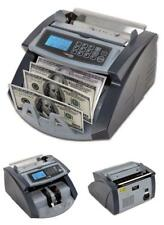 Money Bill Counter Machine Professional Cash Counting Bank Currency Sorter w/ UV
