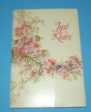 """Current 16 Self Sealing Notes 16 Seals """"Just Notes""""  Stationary w Flowers & Bees"""