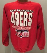 Vtg 1988 San Francisco 49ers NFC Champions SUPER BOWL XXI CrewNeck Sweatshirt L