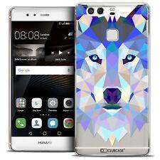 Coque Crystal Rigide Pour Huawei P9 Polygon Animal Rigide Fin Loup