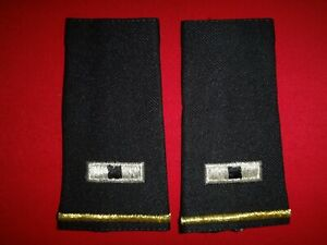 Pair Of US Army WARRANT OFFICER 1 WO-1 Rank Large Epaulets