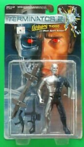 Kenner Terminator 2 EXPLODING T-1000, TECHNO-PUNCH & ENDOGLOW Set of 3 1991 MIP