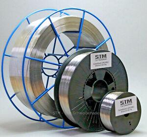 Edelstahl Schweißdraht VA V2A 308L 1.4316 0,8mm 0,5-15kg MIG MAG Niro Inox NEU