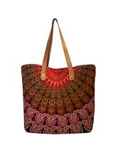 Indian Mandala Tote Bag Shoulder Handbag Cotton Women Satchel Purse Hippie  Bag