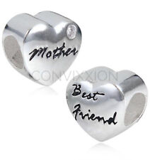 Sterling European Charm Bead Christmas Mother Mom Best Friend Mama vix4pandora
