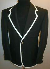 New Black Blazer 46 The Prisoner Style Suit Jacket Boating College Sport Coat