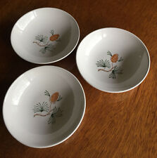 Vintage Marcrest Pine Fruit Bowls Hand Painted THREE