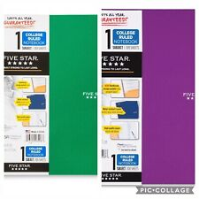 Five Star 1 Subject College Ruled Spiral Notebook Assorted Colors