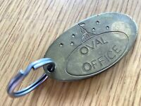 WHITE HOUSE: OVAL OFFICE KEYCHAIN vintage brass key chain US PRESIDENT 2.5 x 3.5