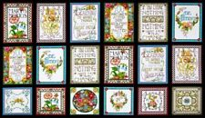 "Pre-Cut Cotton Fabric Panel (23"" x 43"") Mary Engelbreit Mottos to Live By"