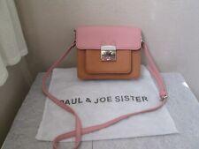 PAUL &JOE SISTERS PINK & TAN MINI CAT FRONT CROSSBODY BAG HANDBAG WITH UST BAG