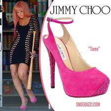 Jimmy Choo TAME Suede Swarovski Crystal Embellished Shoes Heels Pumps 38.5 $2495