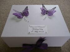 Cadbury Purple Butterfly Keepsake Box Personalised Gift Wedding Birthday 40th