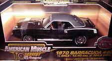 1970 Plymouth Cuda 440 Black 1:18 Ertl American Muscle 33007