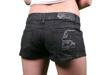 Metal Mulisha Ladies Lil Secrets Denim Shorts Size L (US 11)