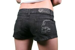 Metal Mulisha Ladies Lil Secrets Denim Shorts Size L (US 11)