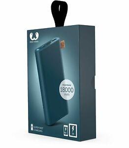 Fresh´N Rebel 18.000 mAh Powerbank USB-C  Petrol-Blau