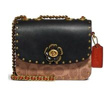 Coach Signature Border Canvas Crossbody Bag - Brown MSRP$295