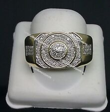 14K Yellow Gold Men's D/VVS1 Diamond Ring 2.20 Ct Wedding Band Pinky Ring