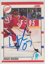 Autographed 90/91 Score Canadian Doug Houda - Red Wings