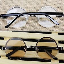 Quality Round Reading Glasses Metal Eyewear Half-Frame 1.0-4.0 unisex spectacles