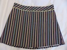 Red Herring size 10 short black skirt with brightly coloured vertical stripes
