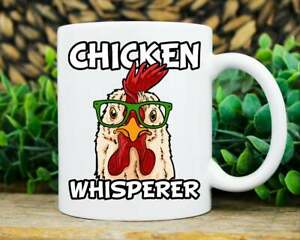 Chicken Whisperer Mug, Funny Chicken Coffee Cup Cool Rooster Lover Mug