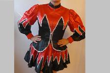 Gardetanz Kostüm schwarz Rot silber Mariechenkleid Gardekostüm 38 Tanzmariechen