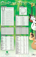 Guitar Theory Poster Music Charts & Diagrams Scale Chords 22x34 Hal Leonard NEW