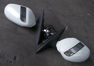 NISSAN M35 STAGEA genuine door mirror + LED indicator cover pearl white pair #2