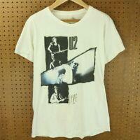 vtg 1987 usa U2 joshua tree tour t-shirt sz M - L single stitch distressed 80s
