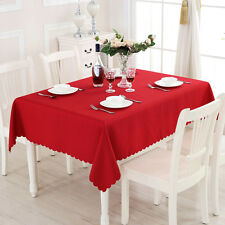 Table Cover Cloth Party Tablecloth Rectangle Theme Cotton Blend Covers Hot #