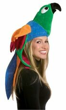 Unisex Adult Funny Colorful Deluxe Amazon Parrot Bird Hat Costume Accessory