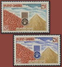 CAMBODGE N°130/131** Campagne contre la faim 1963, CAMBODIA FAO Sc#117-118 MNH