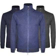 Maglione Uomo Invernale Zip Pullover Cardigan Casual Maglia Maglioncino VEQUE