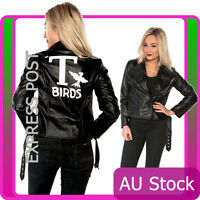 T Birds Black Womens Jacket Lady Grease Sandy 50s 1950s Costume Frenchie Rizzo