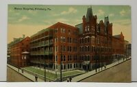 Pittsburgh Pennsylvania Mercy Hospital Pittsburg Pa c1910 Postcard F20