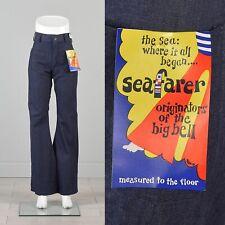 30x33.5 Slim Deadstock Seafarer Bellbottom Jeans High Waist Indigo Cotton Denim