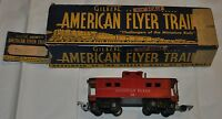 AMERICAN FLYER #638 RED CABOOSE