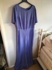 Topshop Size 14 Blue Maxi Dress Satin