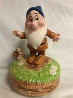 Walt Disney Snow White and The Seven Dwarfs BASHFUL Music Box By Schmid
