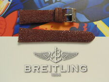 22-18 BURGUNDY RARE STINGRAY BUCKLE WATCH BAND WATCHBAND STRAP FOR BREITLING