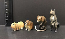 Kaiyodo Animatales Choco Q Small Mammals Figure Lot Rabbit Shrew Pika Squirrel
