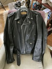 Schott Perfecto Style 618 Original Leather Motorcycle Jacket, Size 40