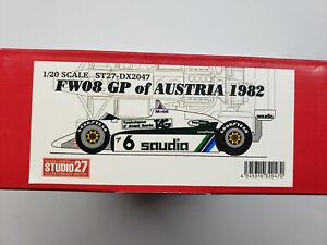 Studio 27 1/20 Williams FW08 Austria 1982 DX2047 Multimedia Kit New