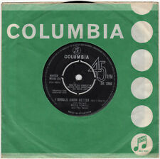 """7"""" 45 Powell, Keith """"I Should Know Better"""" / """"Too Much Monkey"""" COLUMBIA DB 7366"""