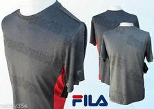 Polyester Crew Neck Short Sleeve FILA T-Shirts for Men