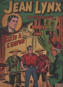 JEAN LYNX le nyctalope n°21. Récit complet éd. Ray-Flo 1951.