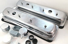 Aluminum SBC SB Chevy Center Bolt Valve Covers W/ Breather & PCV 87-99 305 350